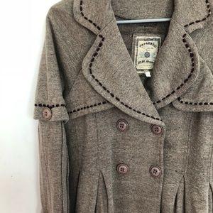 Paparazzi long brown coat size M